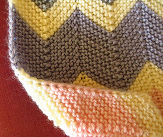 Ravelry Garter Chevron Blanket Pattern By Catherine Anderson