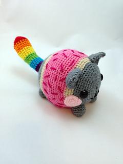 Nyan Cat Amigurumi Free Pattern : Ravelry: Chubby Nyan Cat pattern by Wicked Child Creations
