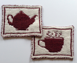 3ed0031792f9 Ravelry  coffeeteaknits  Coffee Cup and Teapot Double Knit Potholders