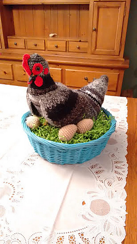 Ravelry Hildegard The Life Size Crochet Chicken Pattern By Once