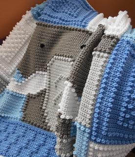 Elephant blanket pattern by Jody Pyott
