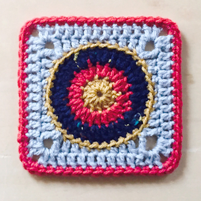 Ravelry Sunburst Granny Square Pattern By Colour And Cotton