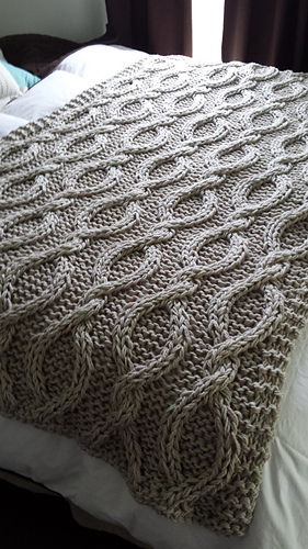 Ravelry Infinity Cable Knit Blanket Pattern By Allison Huddleston