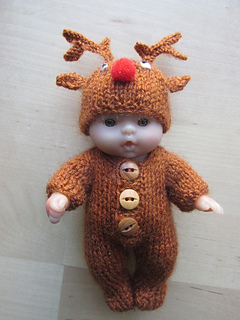 Berenguer Doll Gingerbread Man Reindeer Outfit Pattern By Tracey Devenney