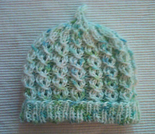 Ravelry Newborn Baby Hat Easy Mock Cables Pattern By Cathy Henry