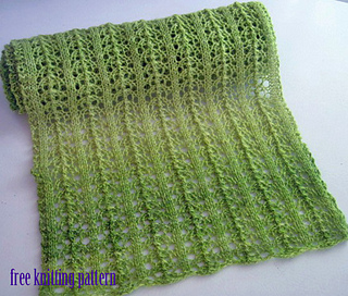 Ravelry Spring Is Coming Lace Scarf Pattern By Melanie Smith