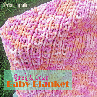 Knitting Patterns Using Baby Yarn : Ravelry: Quick & Cozy Baby Blanket pattern by Melanie Smith