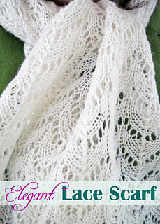 Ravelry Elegant Lace Scarf Pattern By Melanie Smith