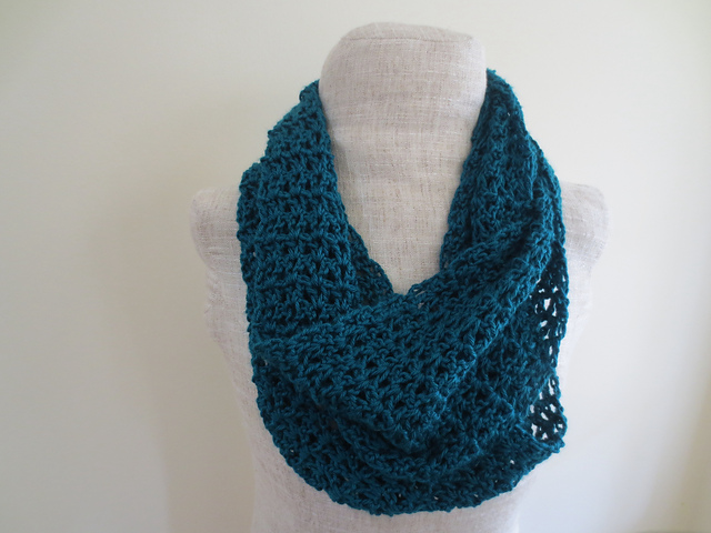 Ravelry: Turquoise V Stitch Infinity Scarf pattern by Undeniable ...