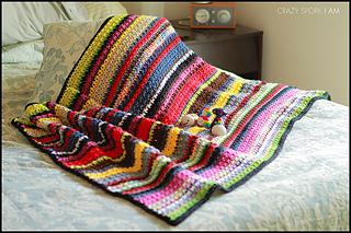 Ravelry Striped Stash Buster Blanket Pattern By Celina Lane