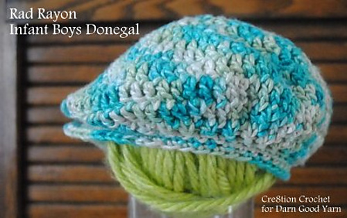 Ravelry  Rad Rayon Infant Donegal  Golf Cap pattern by Lorene Haythorn  Eppolite- Cre8tion Crochet f2d41410013