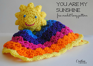 16a39087eb3669 You Are My Sunshine crochet lovey ...