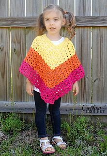 Ravelry Children S Shell Poncho Pattern By Lorene