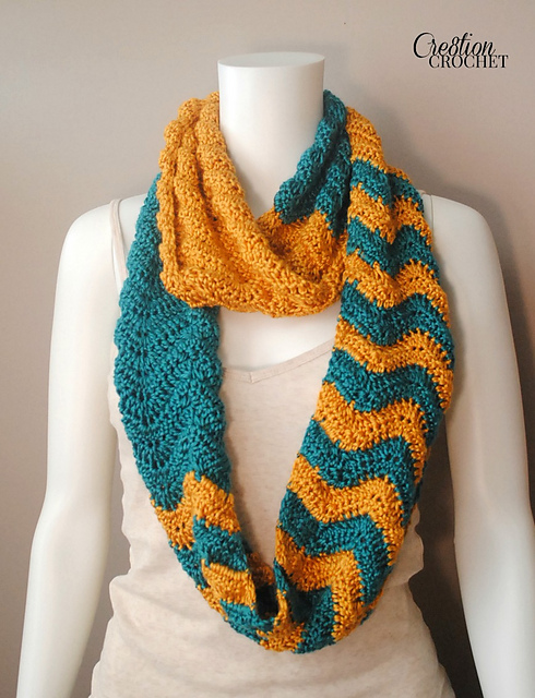 Ravelry Rolling In The Deep Chevron Infinity Scarf Pattern By