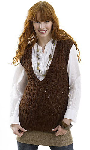 Ravelry Cabled Vest Pattern By Lisa Gentry
