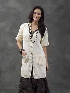 5079bfa5ed3542 Ravelry  Mwanza Cable Yoke Tunic Jacket pattern by Kathy Perry