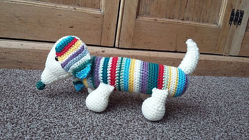 Amigurumi Wiener Dog Pattern : Ravelry henry the sausage dog pattern by claire j miller