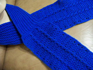 Ravelry Knit Your Bit 2010 Cabled Seaman S Scarf Crochet Version