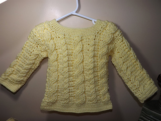 553ce4317b30b Ravelry: Easy Cable Crochet Toddler Sweater pattern by Ruby Stedman