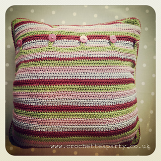 Ravelry Pillow Granny Square Cushion Cover Pattern By