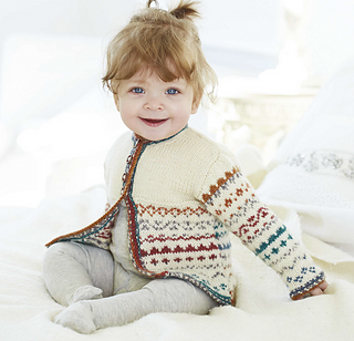fe0fe0a82 Ravelry  Baby Fair Isle Cardigan pattern by Winter Knits Made Easy