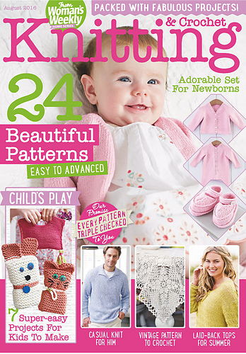 Ravelry Womans Weekly Knitting Crochet Special August 2016