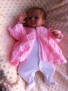 Ravelry Katie Matinee Jacket Knitting Pattern O Fit 0 3 Mth Baby Or