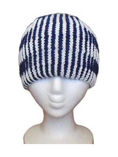 Ravelry Double Stripes Illusion Knit Hat Pattern By Christina