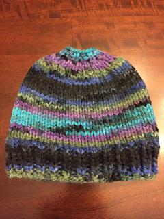 d76c95bde Ravelry: cwoodrum's Holey Hat AKA Messy Bun Hat
