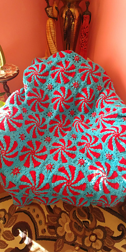 Ravelry Peppermint Throw And Pillow Pattern By Bendy Carter