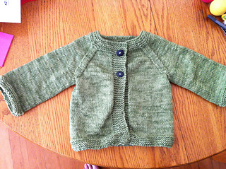 d6fa07b7f Ravelry  Raglan Baby Cardigan (Bottom-Up) pattern by The Students of ...