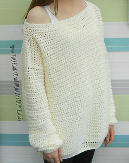8cec6d2745b73 Ravelry  Daisy off the shoulder sweater pattern by Gillian Moore