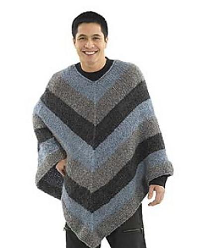 Ravelry: Mitered Unisex Poncho: Knit pattern by Lion Brand Yarn