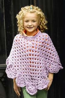 Ravelry: Martha Stewart Coming Home Poncho: Kid's (crochet