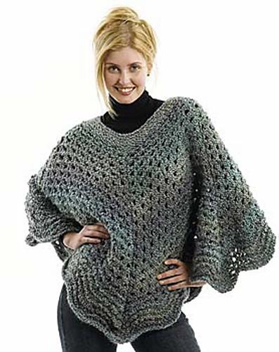 Ravelry Martha Stewart Coming Home Poncho Knit Pattern By Lion
