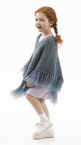 Ravelry Downtown Tot Poncho Knit Pattern By Lion Brand Yarn