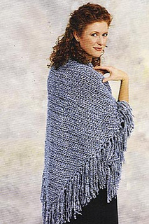 Easy Triangle Shawl With Fringe Crochet Pattern By Lion Ravelry