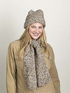 Ravelry One Skein Hat And Scarf Knit Pattern By Lion Brand Yarn