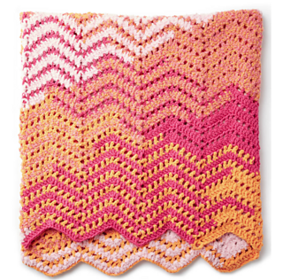 Ripple Blanket pattern by Bernat Design Studio - Ravelry