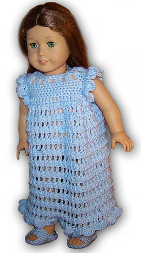 Ravelry American Girl Or 18 Doll Pajamas Slippers Crochet