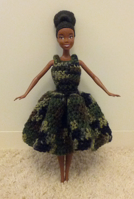 Ravelry Crocheted Barbie Slip On Dress With Wavy Skirt Pattern By