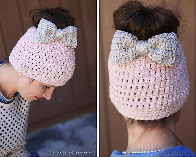 patterns   Daisy Cottage Designs.   Chunky Messy Bun Hat 85629cc1388