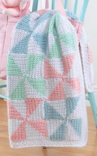 Free Pinwheel Crochet Baby Blanket Pattern : Ravelry: Pinwheel Baby Blanket pattern by Marilyn Losee