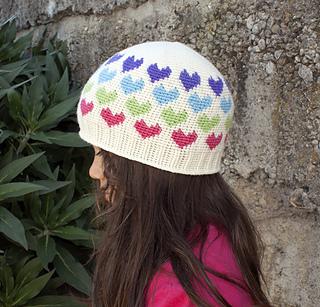 Ravelry  Hearts Abound Beanie pattern by Deja Joy 6161d984fd2