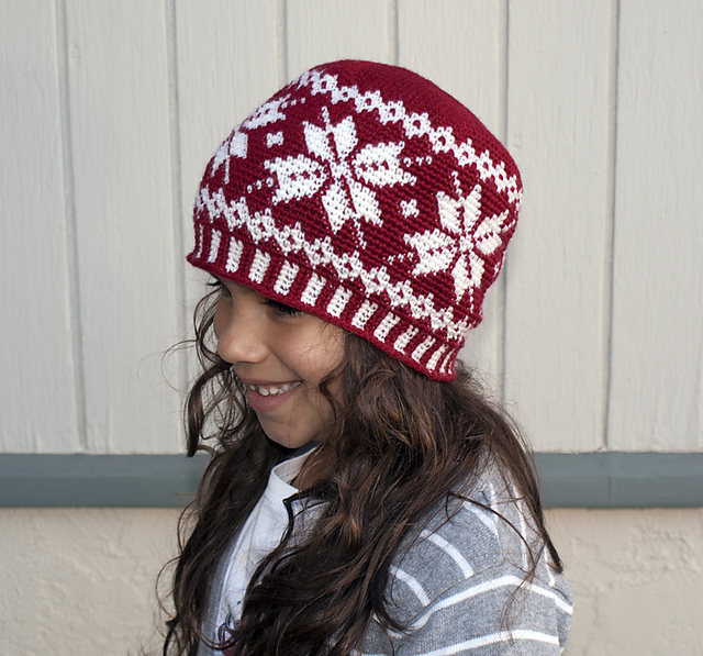 Ravelry: Frozen Snowflakes Beanie pattern by Deja Joy