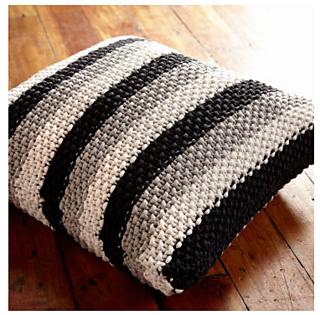 Ravelry Stepping Stripes Knit Pillow Pattern By Bernat