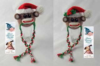 a76803830 070 - Christmas Sock Monkey Hat pattern by Desert Diamond Crochet