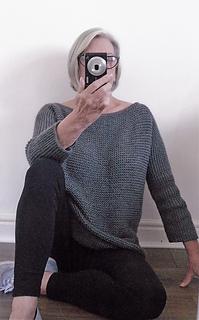 ec6427593603 Ravelry  Aran Garter Stitch Tee Sweater pattern by Audrey Wilson