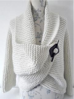 cf924cd70f9b Ravelry  Chunky Garter Stitch Cardigan pattern by Audrey Wilson
