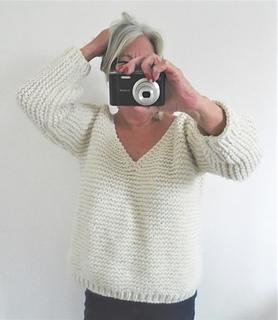 084b6323e Ravelry  Chunky V Neck Sweater pattern by Audrey Wilson